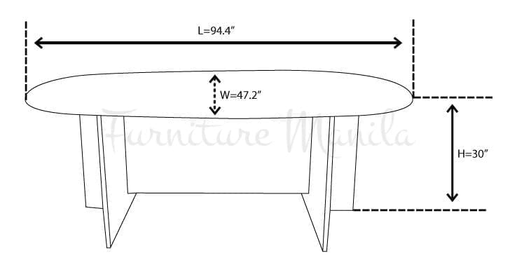 L2400C CONFERENCE TABLE DIMENSION | Home & Office Furniture