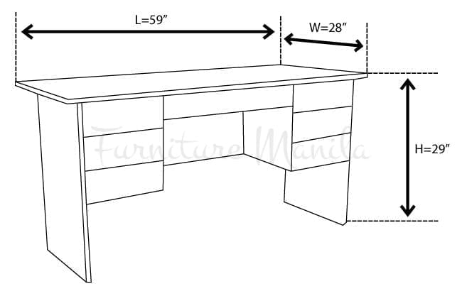 6030 office table home office furniture philippines for Dimension table bureau
