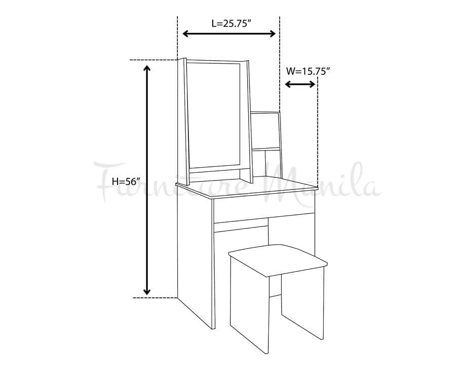 1503 Dressing Table – Furniture Manila Philippines