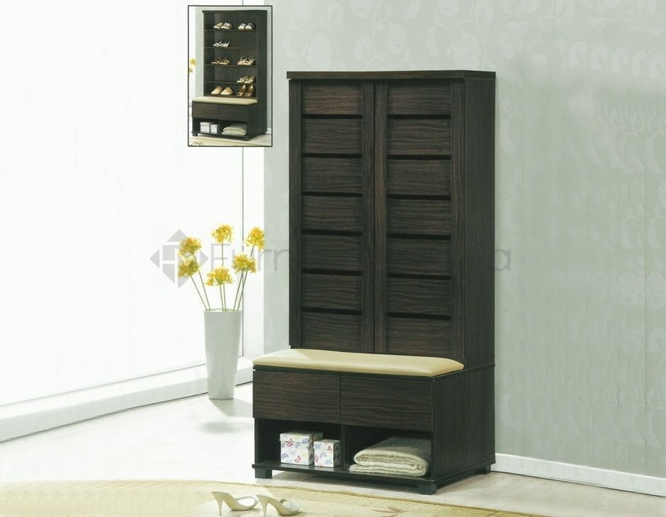 Sc413 shoe cabinet with bench home office furniture philippines Shoe cabinet bench