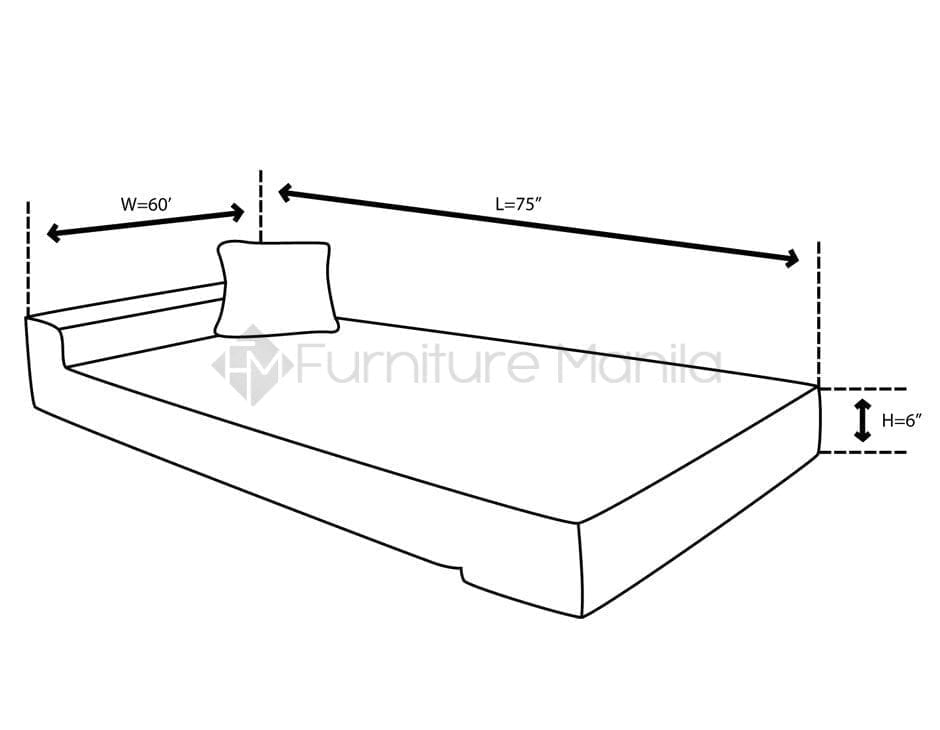 Sit and Sleep Sofabed dimension1