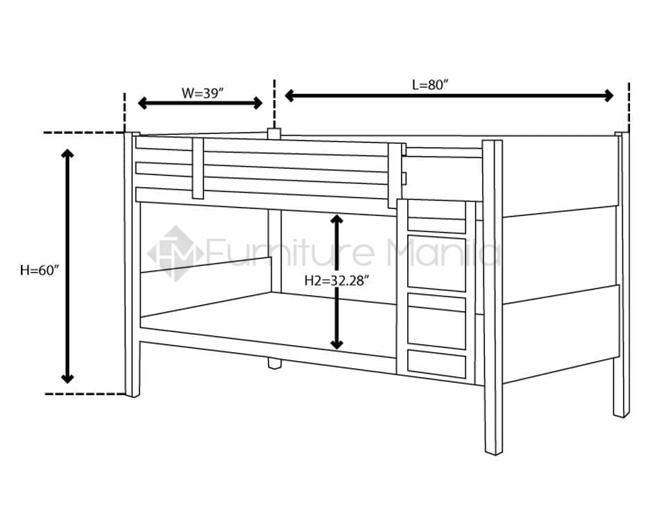 Double Deck Bed Dimensions Height