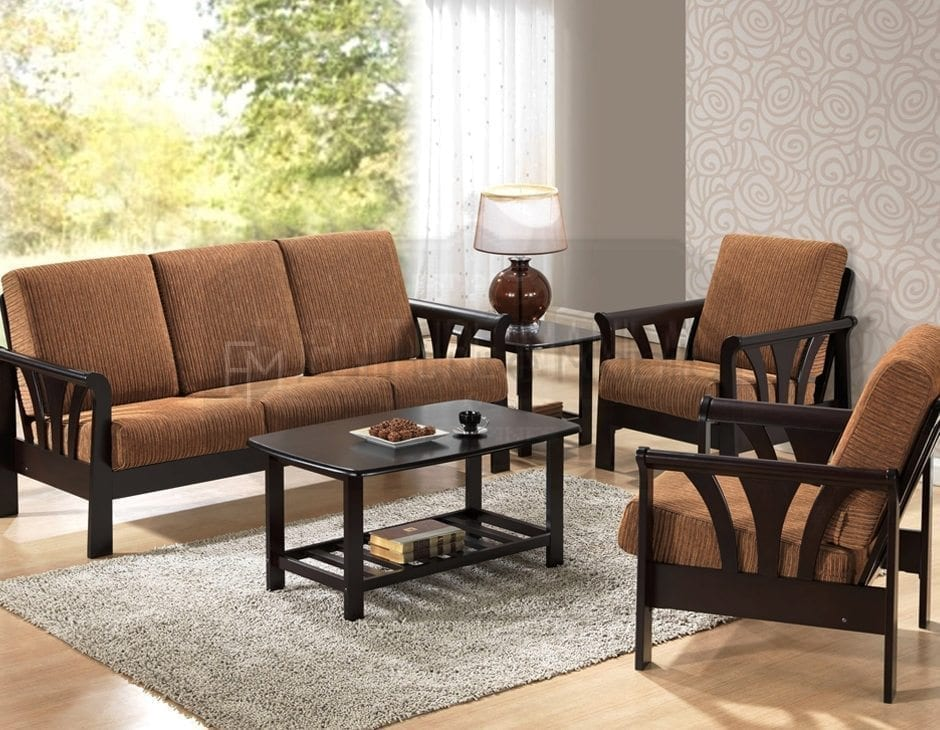 YG310 Wooden Sofa Set