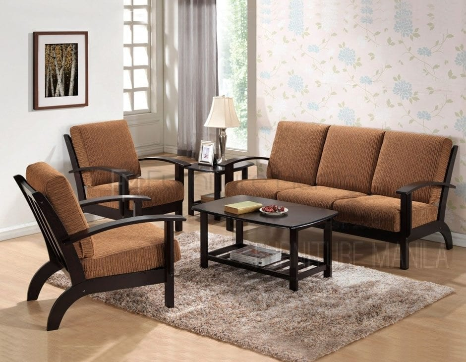 Yg331 wooden sofa set home office furniture philippines for Wooden sofa set designs for small living room