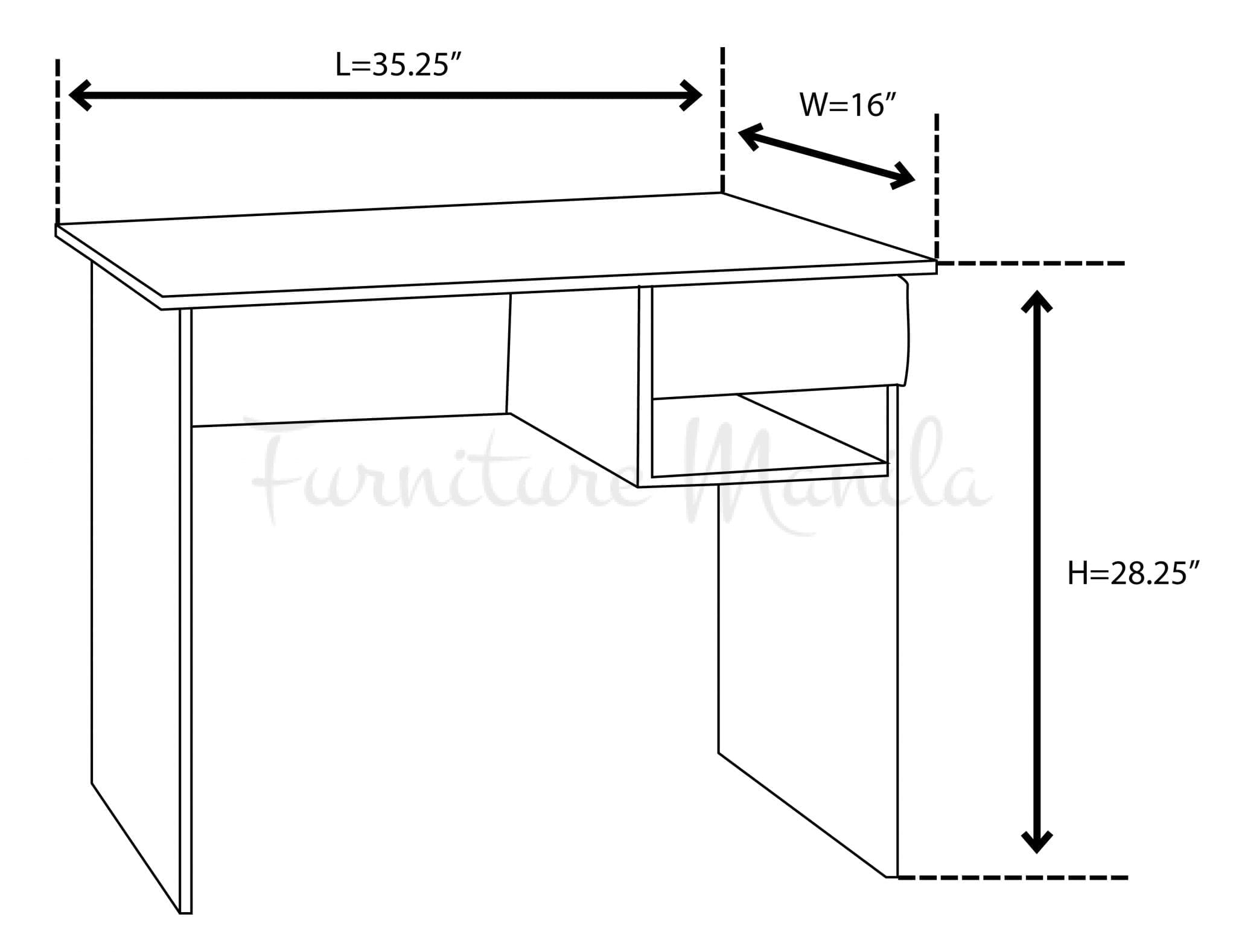 1304 office table home office furniture philippines for Dimension table 6 8 personnes