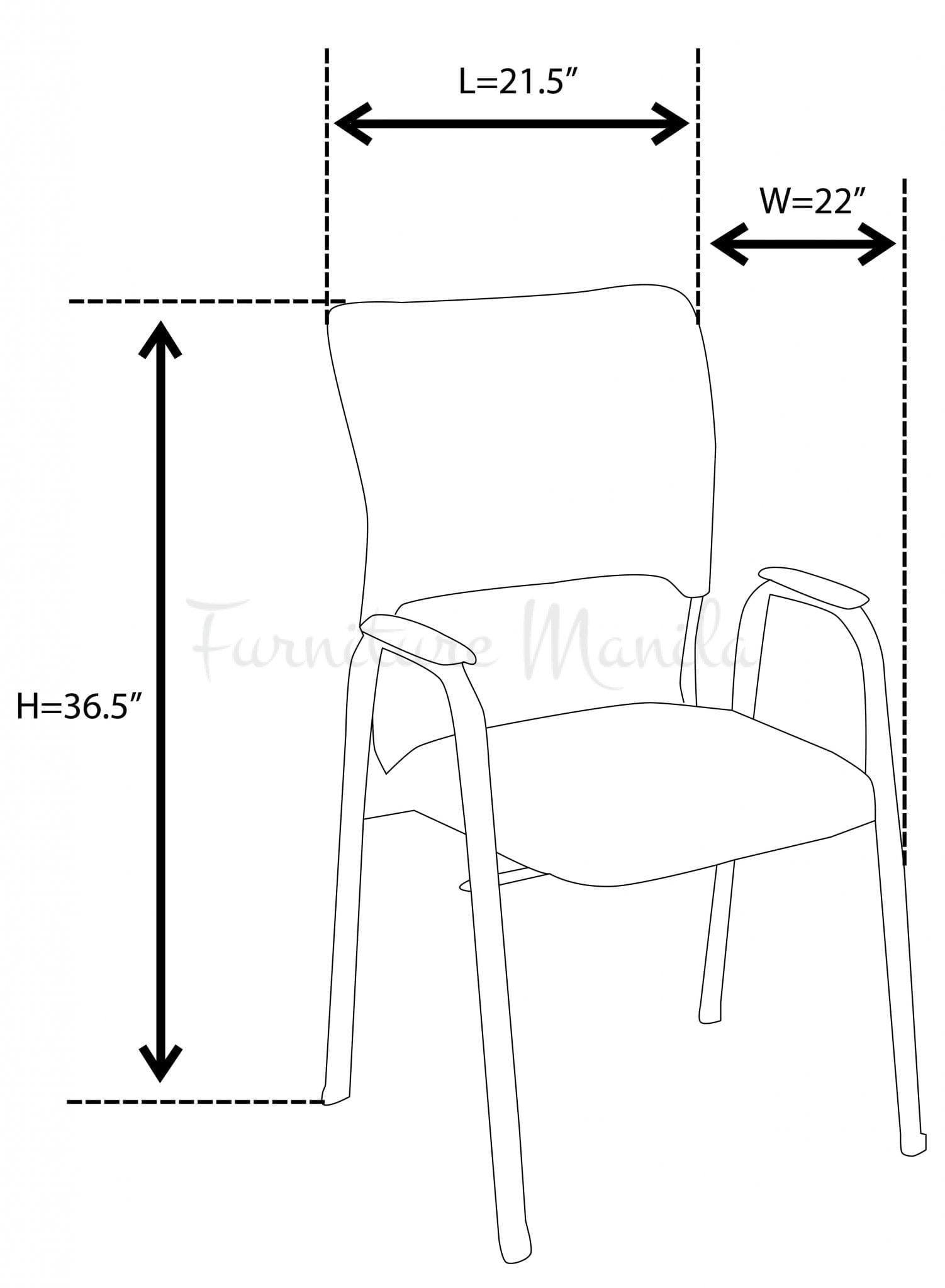255-1-visitor-chair-with-arm dimension