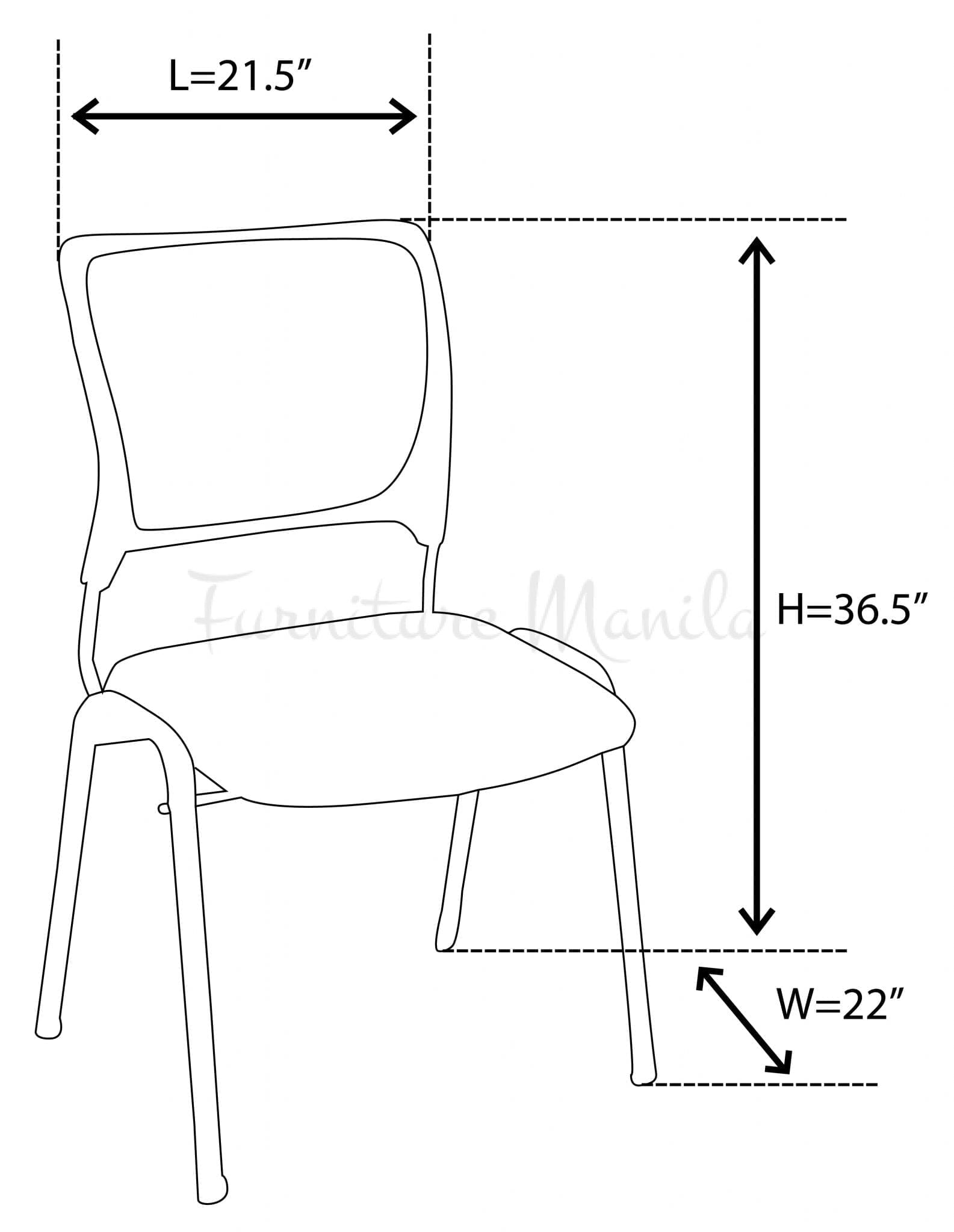255-visitor-chair-wo-arm-blue dimension