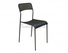 049 Plastic Chair Color- Black