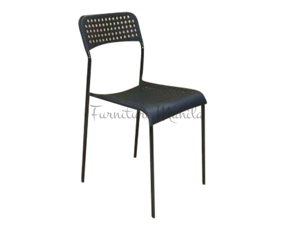 049 Plastic Chair Color- Black