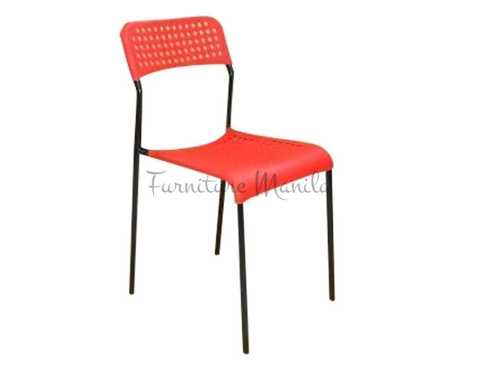 049 Plastic Chair Color-Red