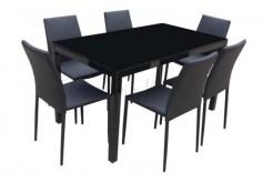 HSDTI-TDC980PVC DINING SET 6S