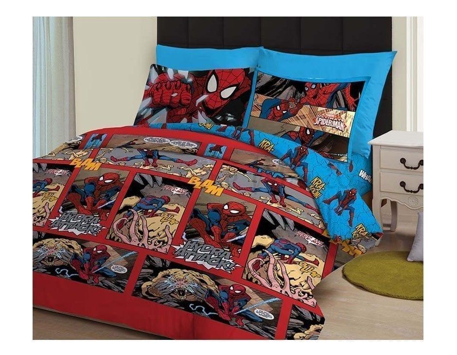 SPIDERMAN COMICS BED SHEET
