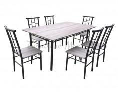 6M dining set CREAM