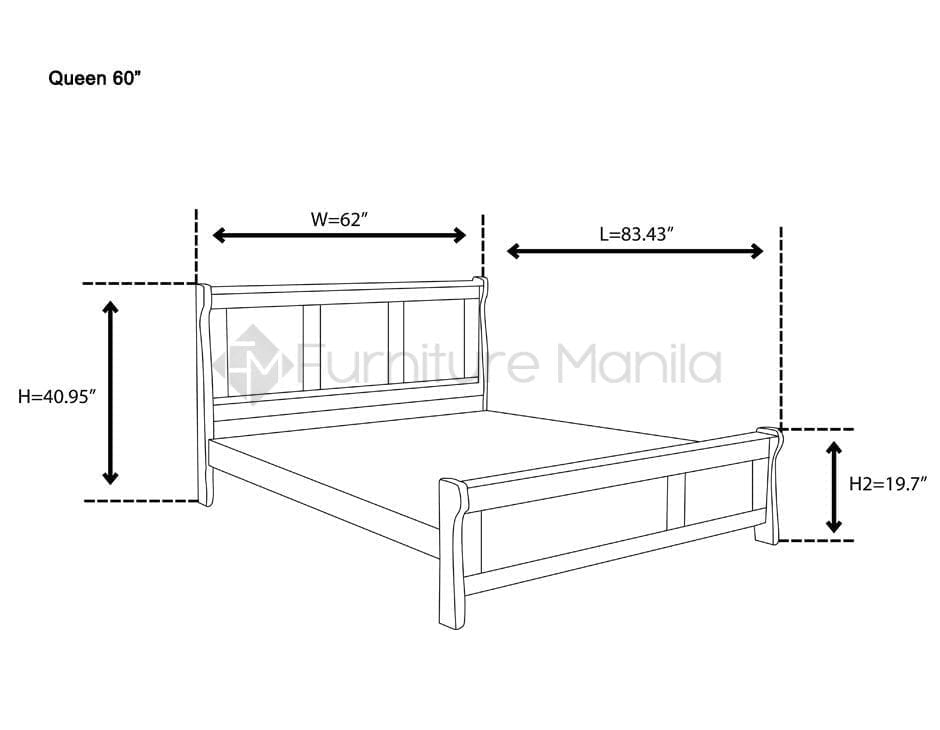 messi solid wood bed frame