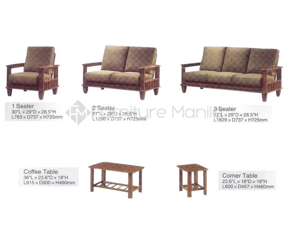2 seater wooden sofa philippines Home office furniture philippines
