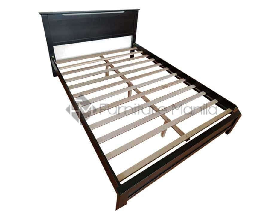 318 Wooden Bed Frame Furniture Manila, What Is The Size Of Double Bed In Philippines