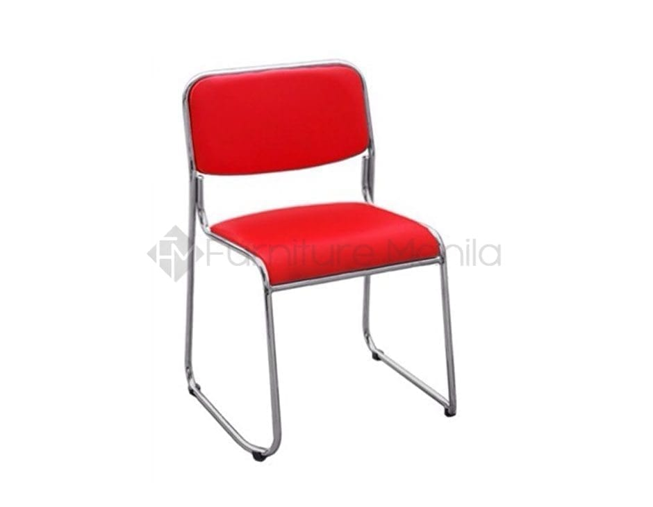 114 visitor chair red