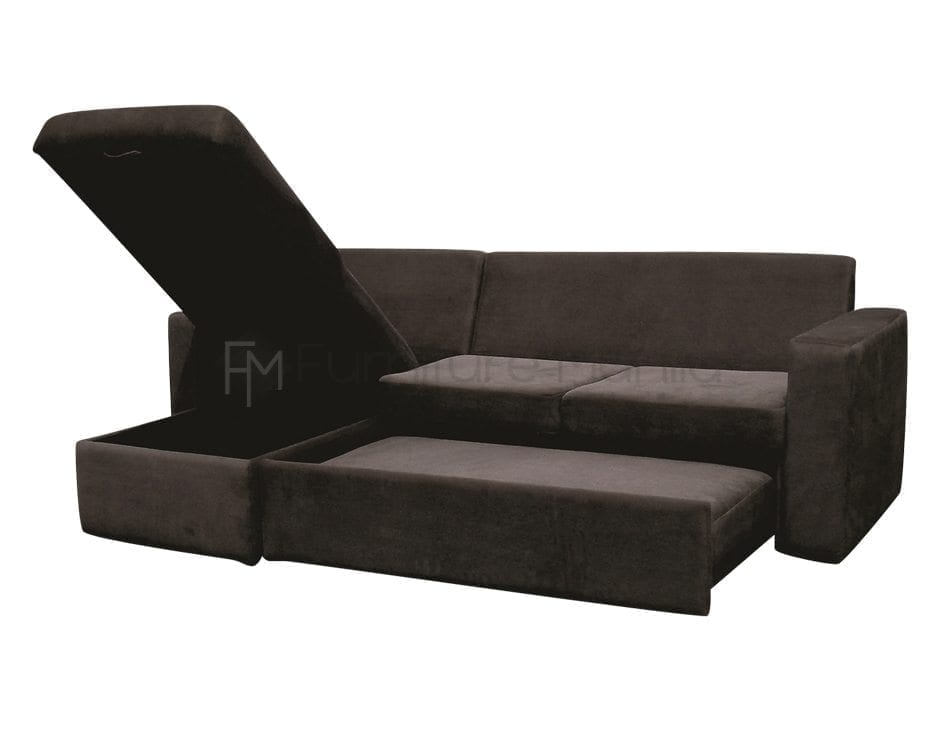 Audrey l shape sofa bed with storage home office for Sofa bed in philippines