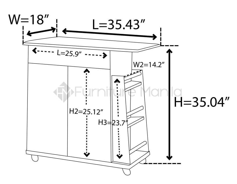 DR 883500 kitchen cabinet dimension