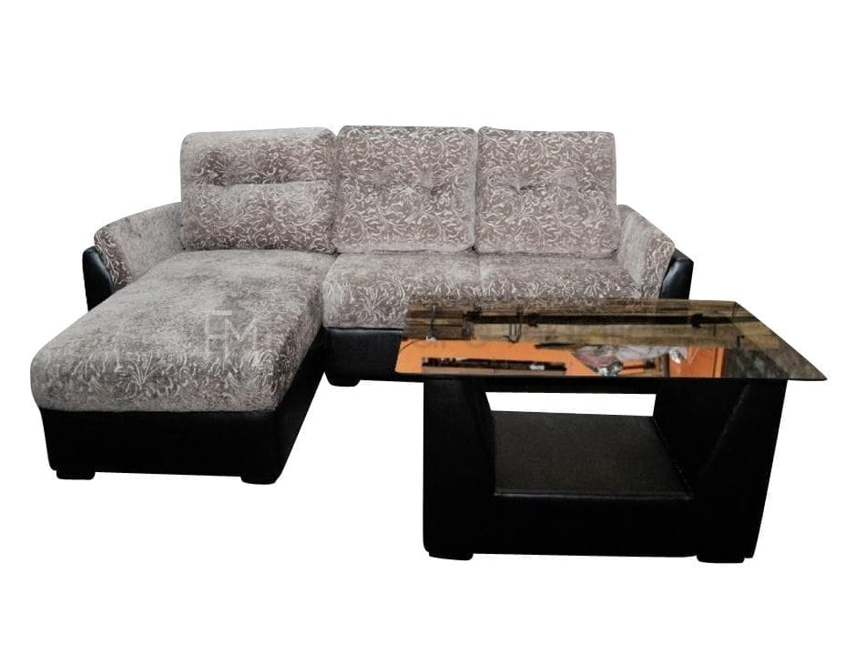 Em 171l l shaped sofa with center table home office for Center table design for sofa