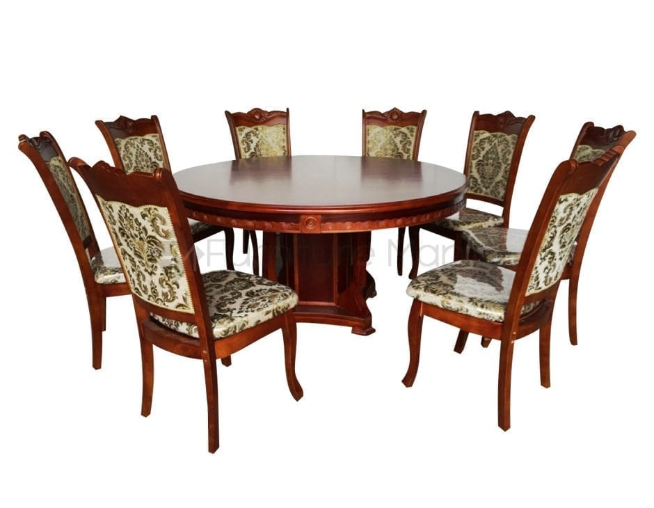 Round Dining Set 1+8 w/ lazy susan