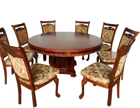 318 ROUND TABLE DINING SET W LAZY SUSAN Furniture Manila Philippines