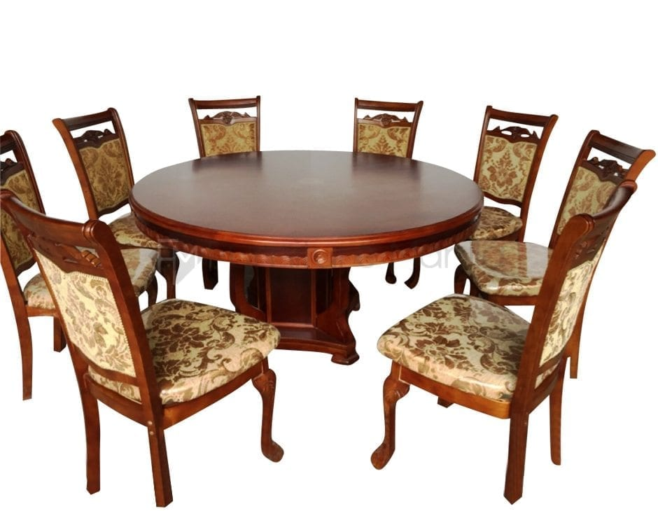 318 ROUND TABLE DINING SET W LAZY SUSAN Furniture