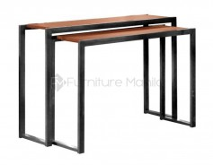 Double console table black walnut