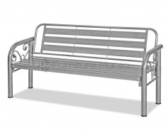 KD-7110 Long Bench Antique Silver