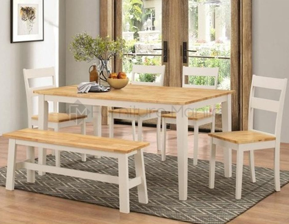 New York Dining Set With Bench Home Office Furniture Philippines