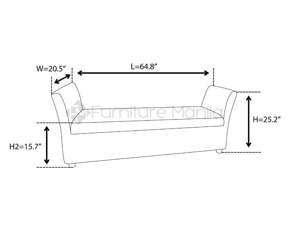 Ev 383lc divan lounge chair home office furniture for Sofa 5 plazas medidas