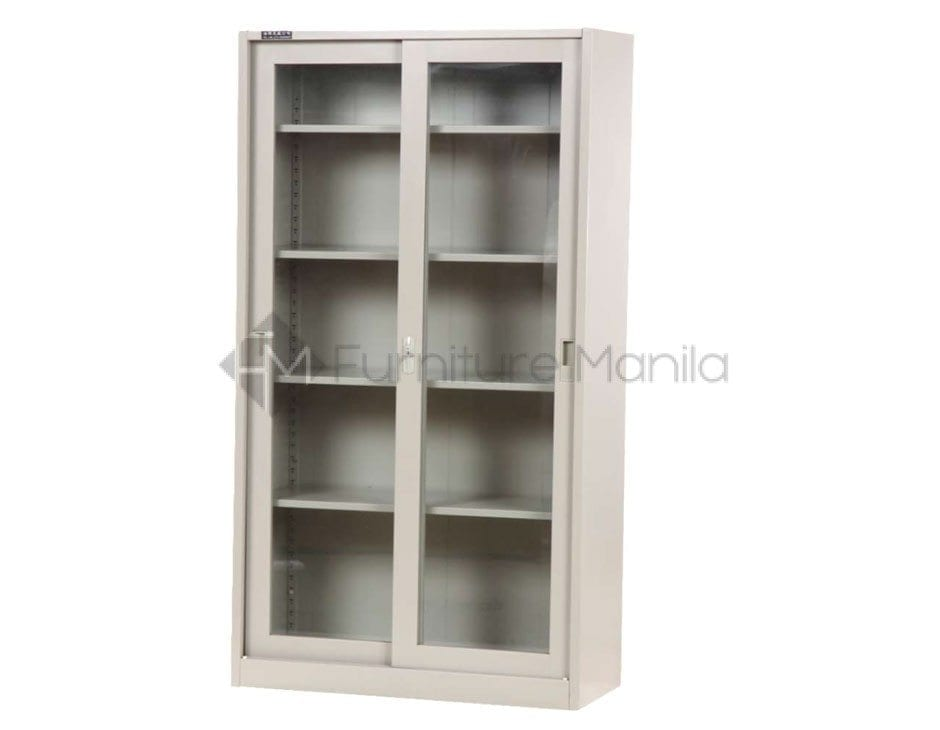 Lf01 Sliding Glass Door Steel Cabinet Home Office Furniture