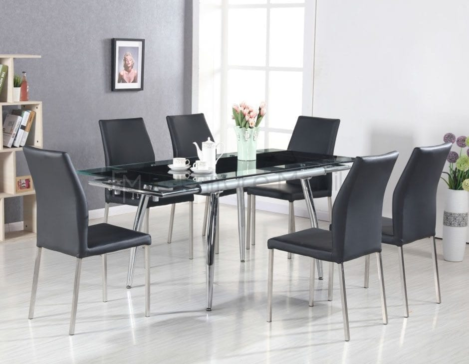 hercules extendable dining set home office furniture