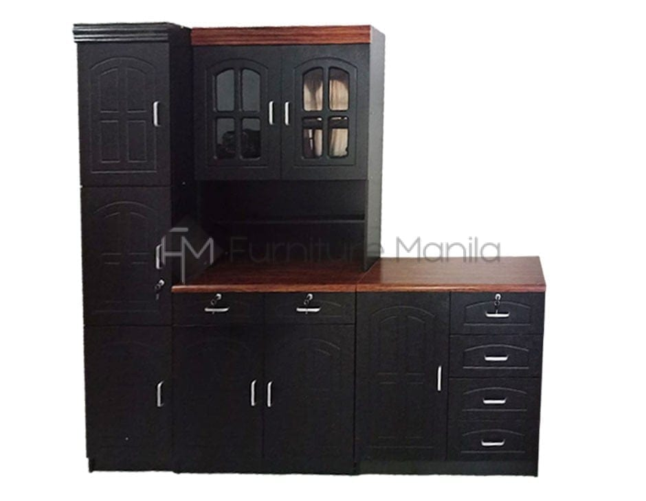 black cabinets k123 kitchen cabinet home amp office furniture philippines 12350