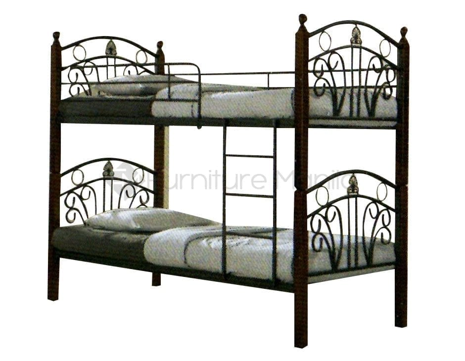 Double deck bed modern diy double deck bed wood ksbb07 for Double deck bed images