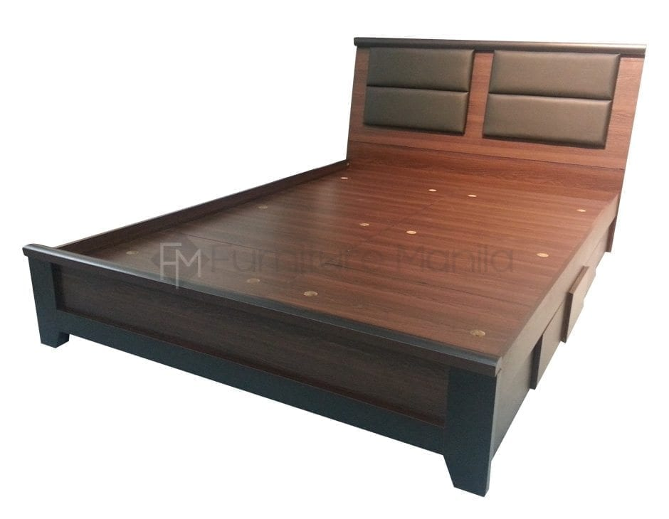 Queen size beds home office furniture philippines for Wooden bed frame and mattress