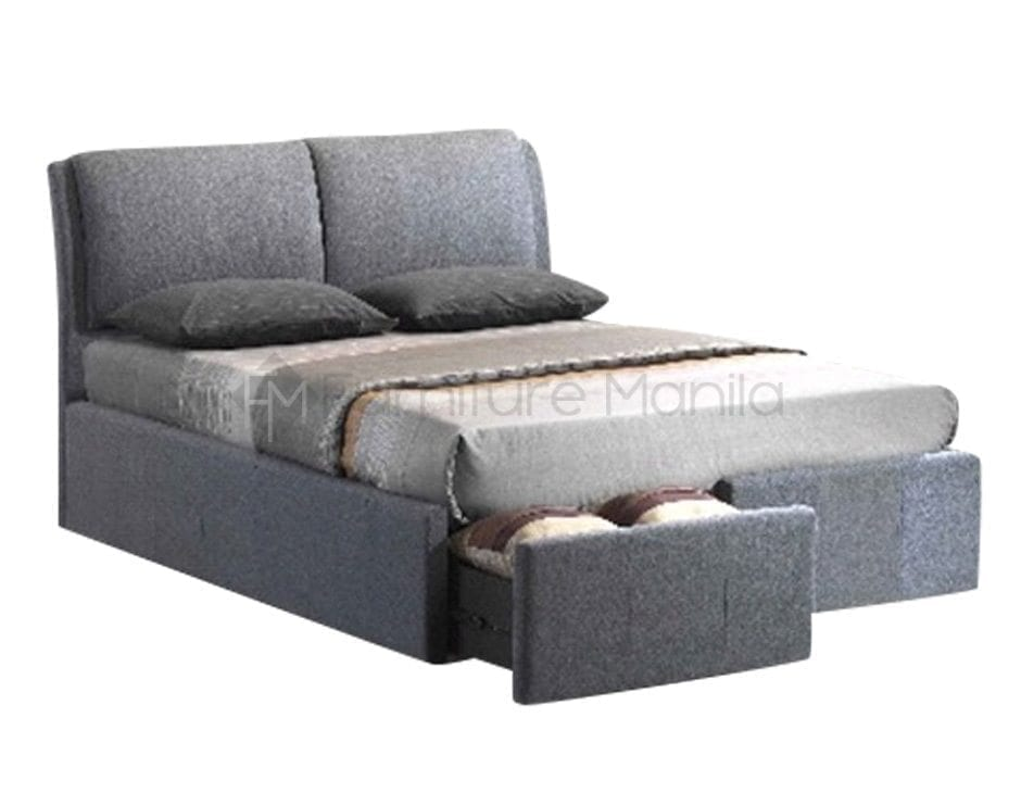 Rena bed frame with storage home office furniture for Furniture manila