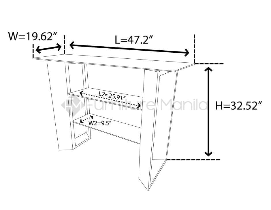TL141BT01  CONSOLE TABLE dimension