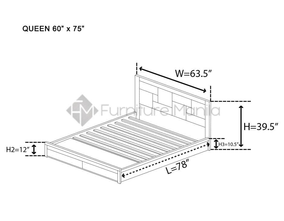 8020 WOODEN BED FRAME | Home & Office Furniture Philippines
