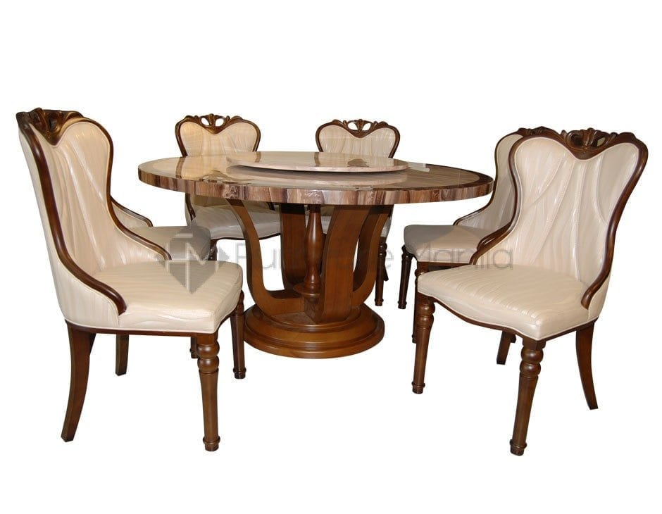 Round dining table set for 6 for Round dining table for 6