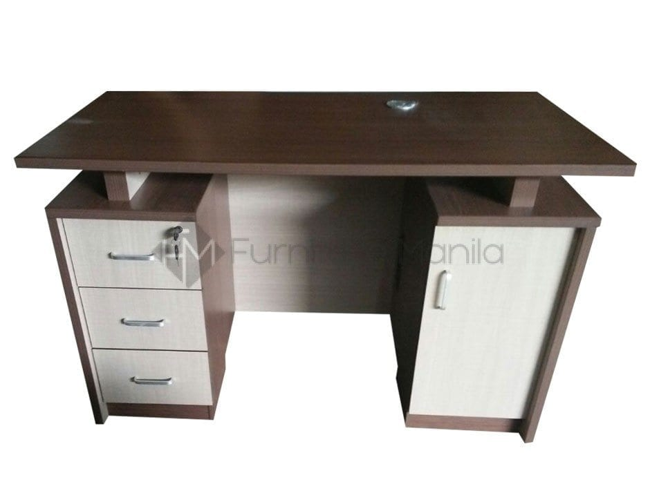 Yf007 Office Table With Side Drawers