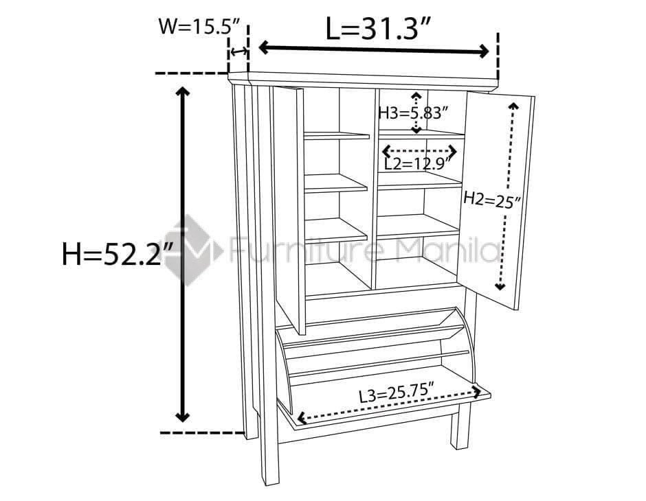 LINER51-SHOE-CASE-Dimension