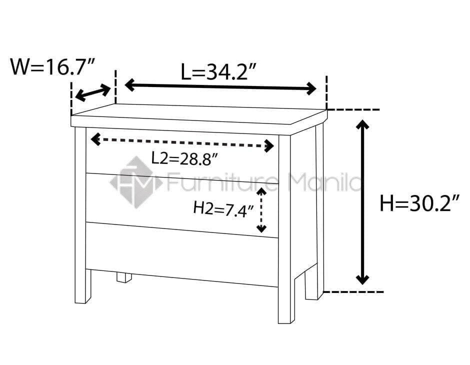 Liner-96-Chest-of-Drawer-dimension