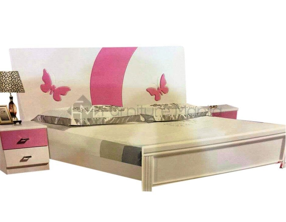 8828-BED-WHITE-TWIN-WITH-BUTTERFLY