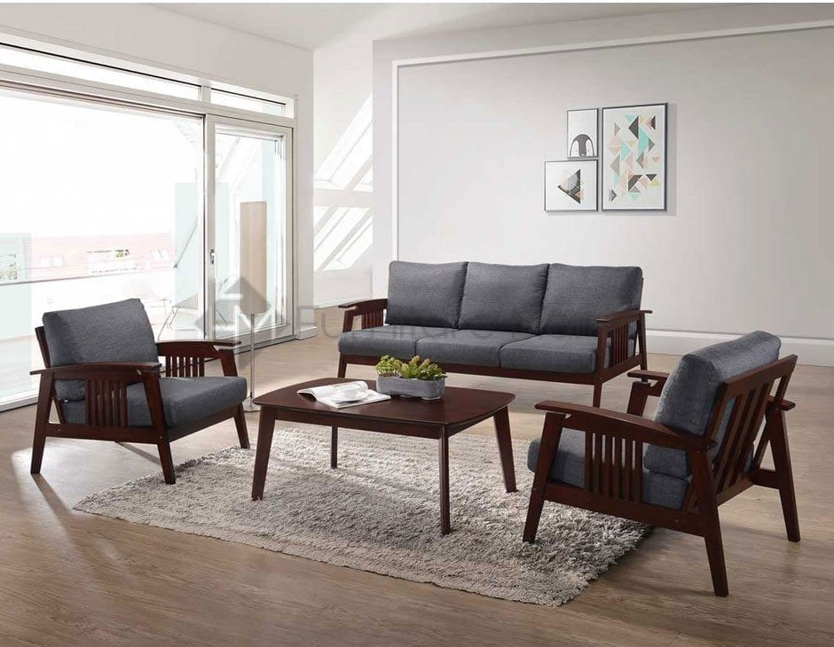 6020 Sofa Set With Center And Side Table Home Amp Office