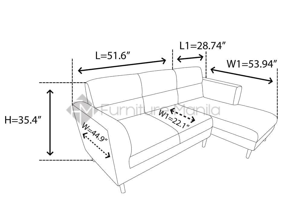 Eq397 L Shaped Sofa