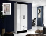 Caribe-3-DOOR-WARDROBE-BLACK