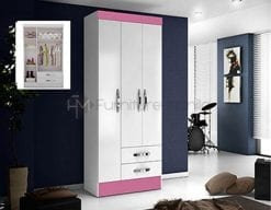 Caribe-3-DOOR-WARDROBE-PINK
