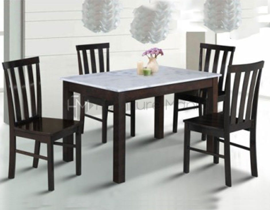 7838 Rectangle Marble Dining Set