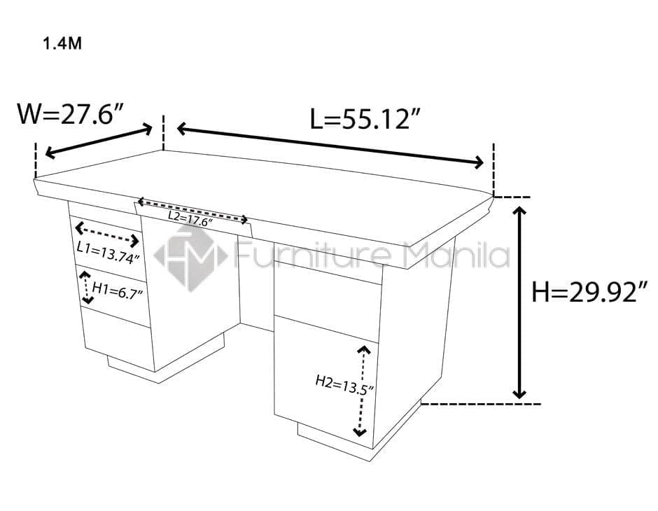 14029 office table home office furniture philippines for Dimension table bureau